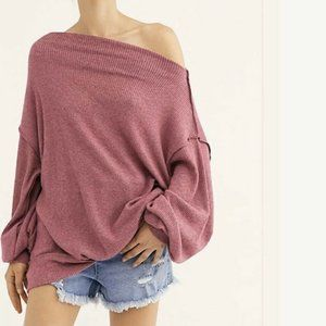 Free People Main Squeeze Hacci Pullover Top